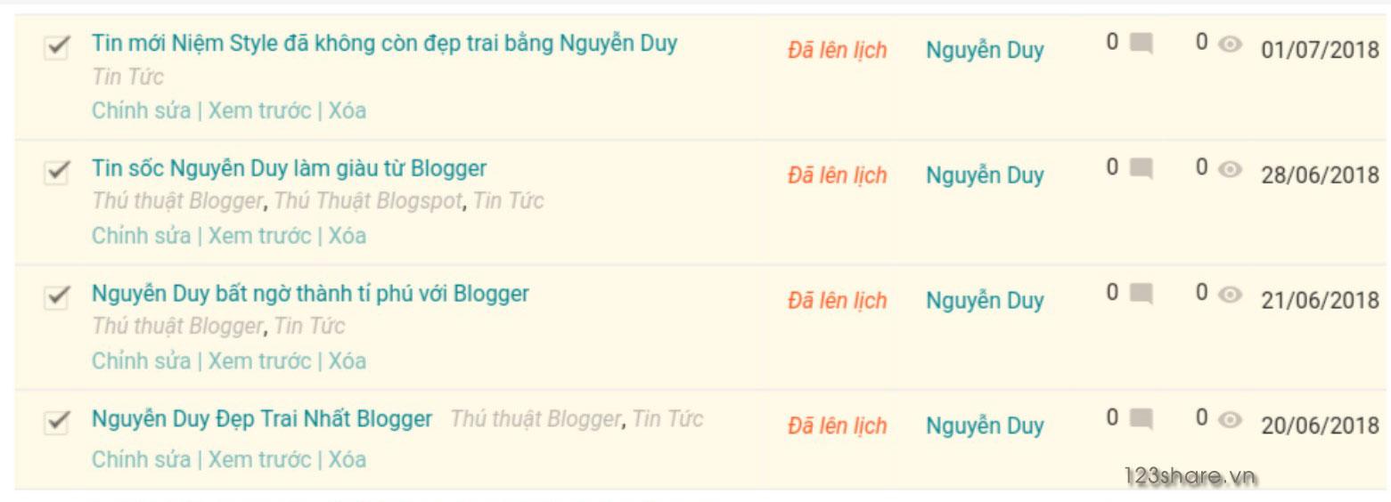 Hướng dẫn cách lên lịch đăng bài viết tự động trên Blogger