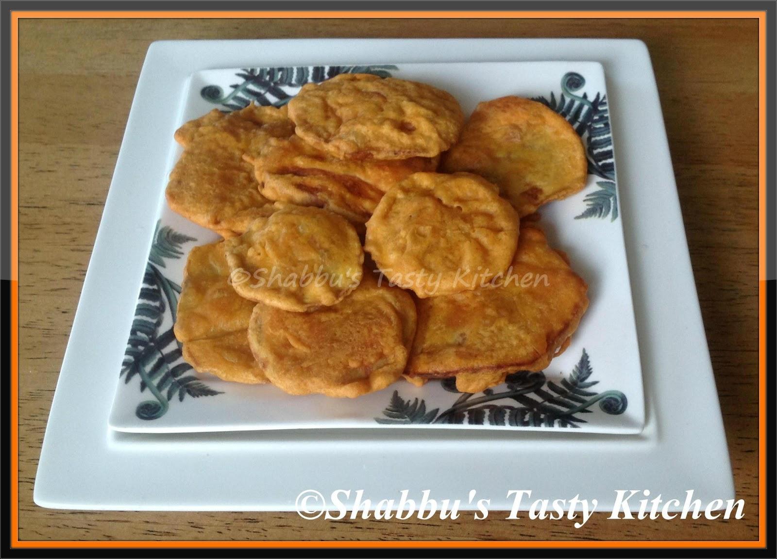 Shabbu Tasty Kitchen Sweet Potato Madhura Kizhangu Fritters