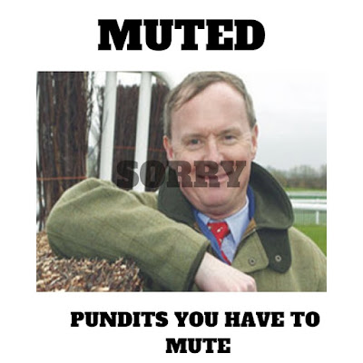 Racing pundits you have to mute