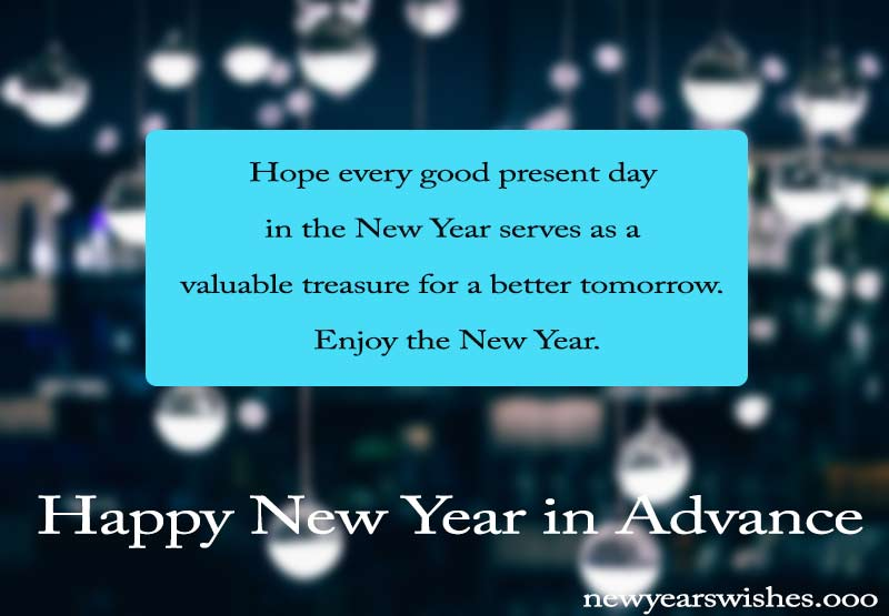 happy new year in advance quotes