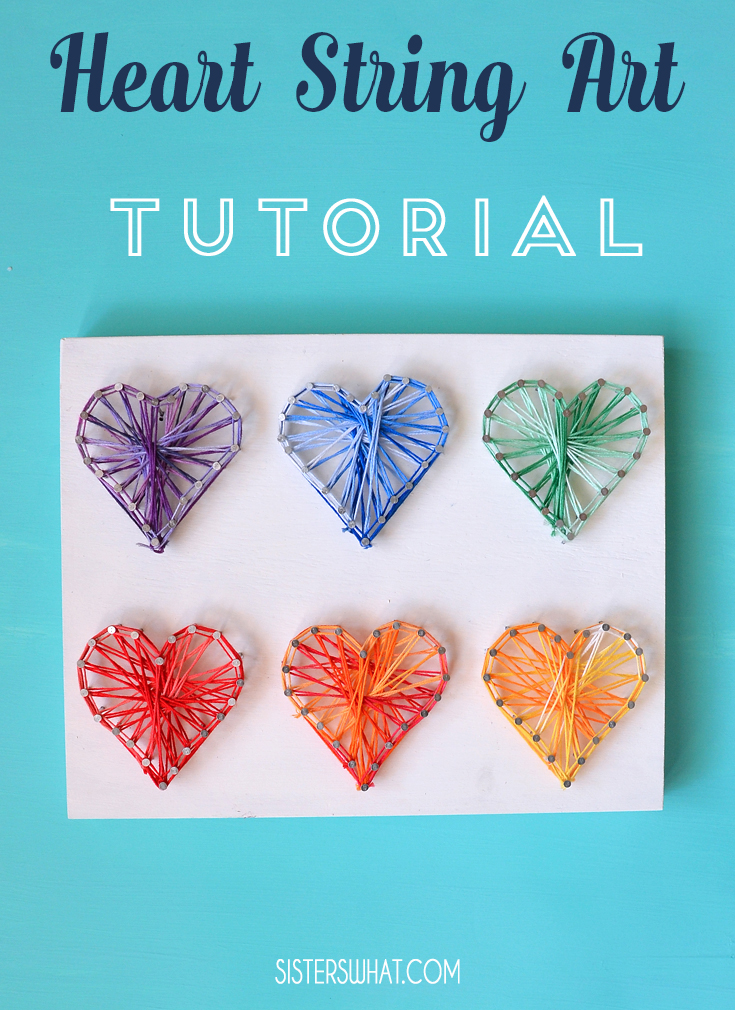 Valentine heart string art tutorial