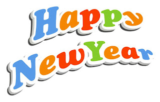 Happy New Year text with holiday background - 03
