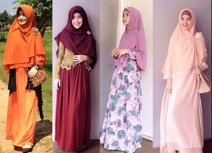 Aneka busana muslim syar'i nan cantik