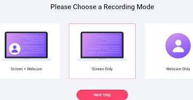 mode recording screen