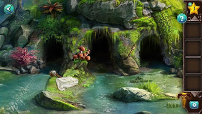 собираем предметы перед пещерами