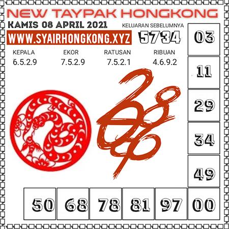 Prediksi New Taypak Hongkong Kamis 08 April 2021