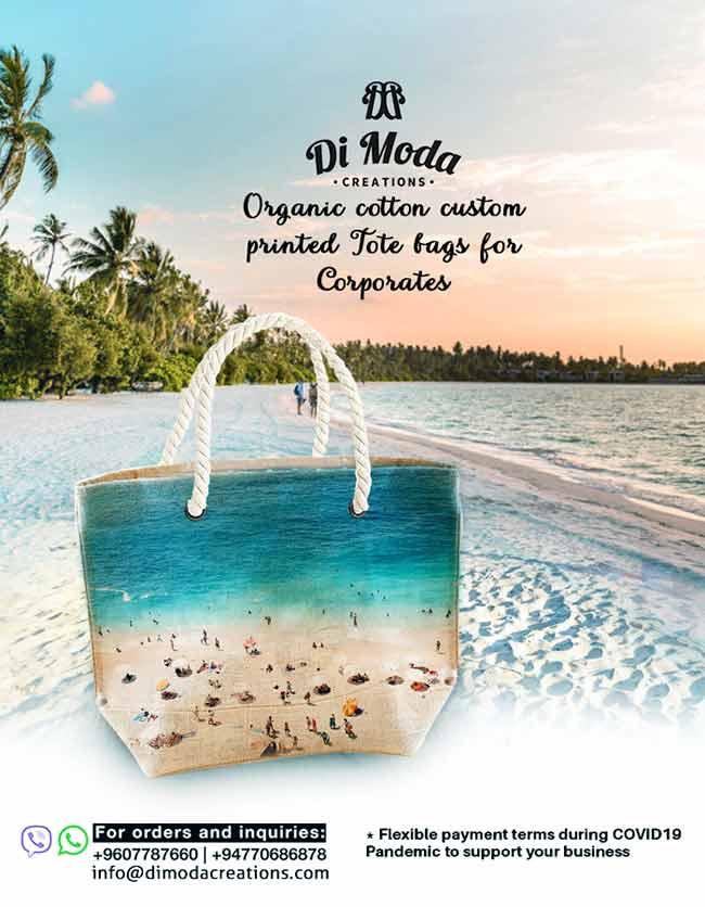 Di Moda Creations - Say No to Plastic, use reusable cotton Tote Bags