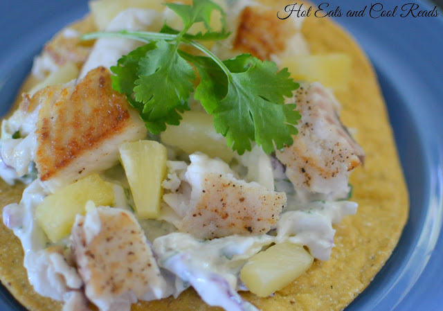 A healthy and easy dinner option that is sure to be a new favorite! Tilapia Pineapple Tostadas with Essential Oil Lime Cilantro Slaw from Mama Loves Her Oils!