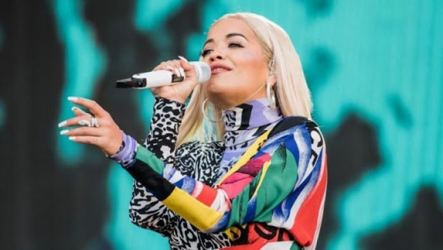 Rita Ora in Zara on August 30, the city inhabited by the Arbëresh