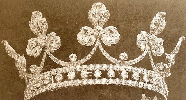 diamond trefoil tiara princess maria letizia bonaparte savoy aosta musy