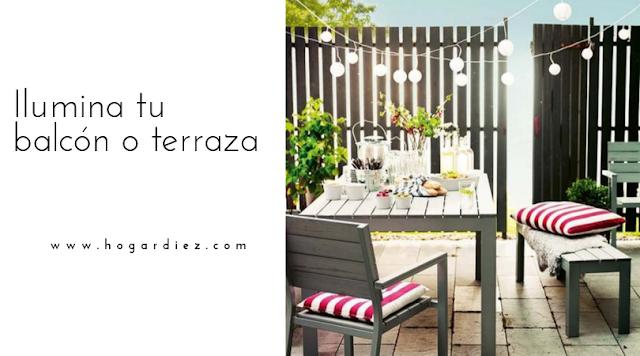 Ilumina tu balcón o terraza