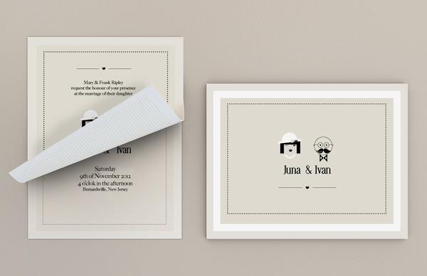 Graphic Design Wedding Invitations