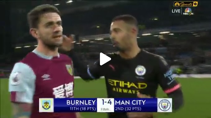VIDEO: Burnley 1:4  Manchester City /  Premier league