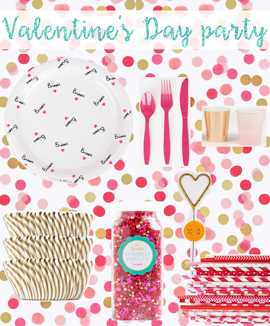 Party moodboard valentine's day fête St Valentin