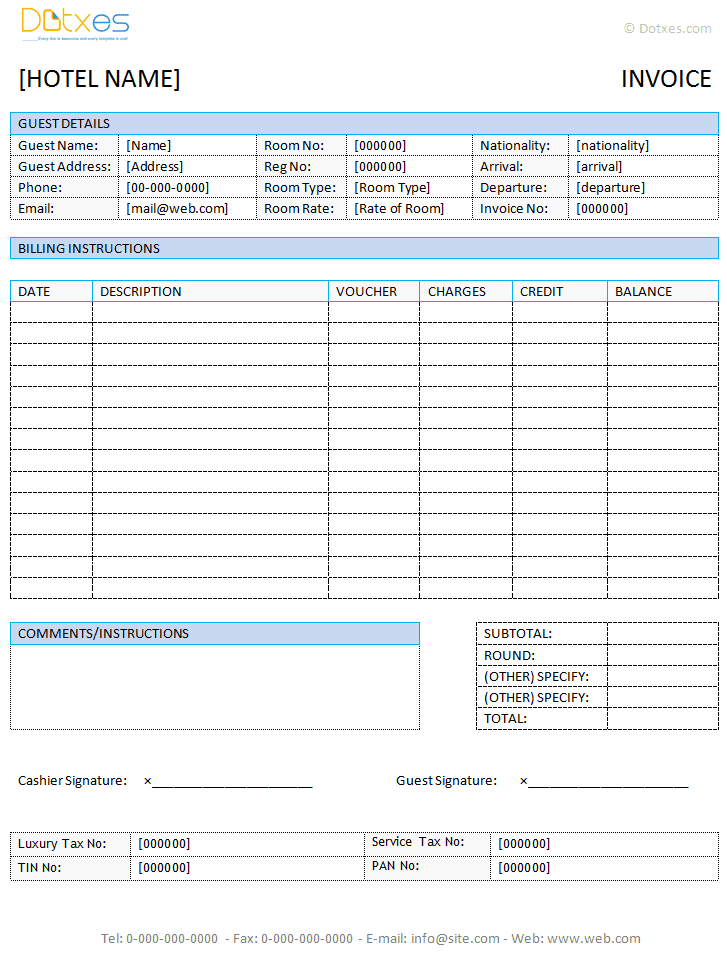 Invoice Template In Word free for excel openoffice and google – Free Invoice Template Word