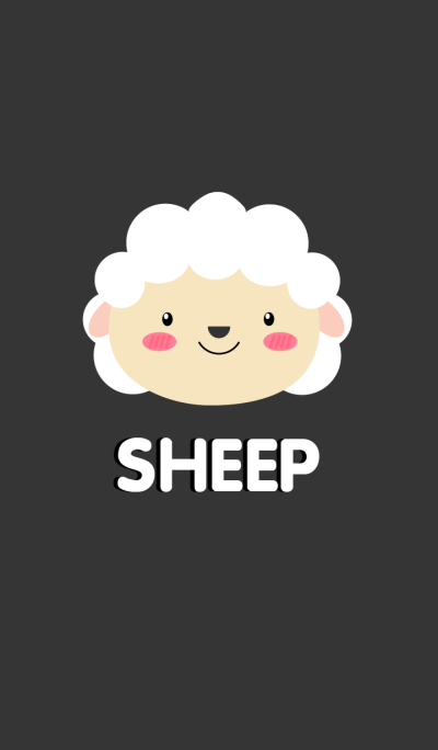 Simple Cute Face White Sheep Theme(jp)
