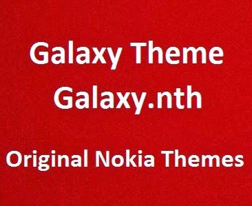 Galaxy Theme [Galaxy nth] - Nokia 5130 Xpress Music Original