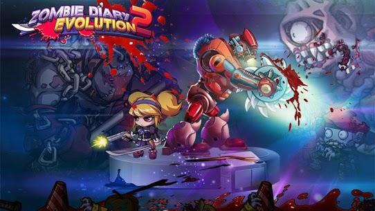 تحميل لعبة Zombie Diary MOD مهكرة للاندرويد