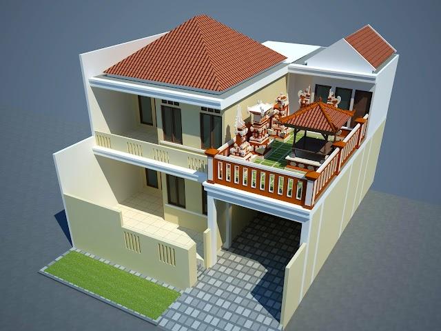 Jasa Perspektif 3D Blok Masa Rumah Tinggal