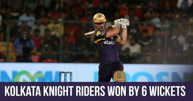 Kolkata Knight Riders won by 6 Wickets