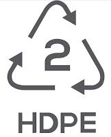 Simbol Daur Ulang Plastik 2 - High-Density Polyethylene (HDPE)