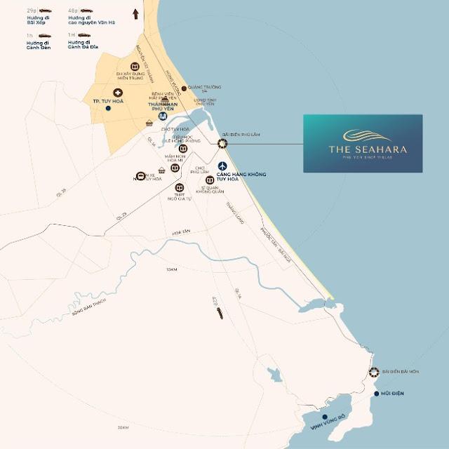 sơ đồ vị trí the seahara phú yên