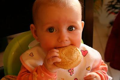 Latihan Menggigit dengan Biskuit Bayi 6 Bulan