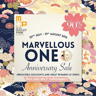 Mitsui Outlet Park Marvellous ONE Anniversary Sale