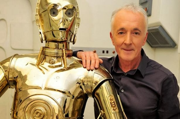 Anthony Daniels and a friend