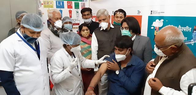 Covid-19 Vaccination | दौसा में सबसे पहले 192 लाभार्थियों लगा कोविड-19 का टीका