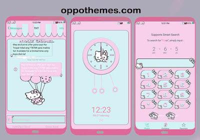 Hello Kitty Pink Theme For Oppo & Realme