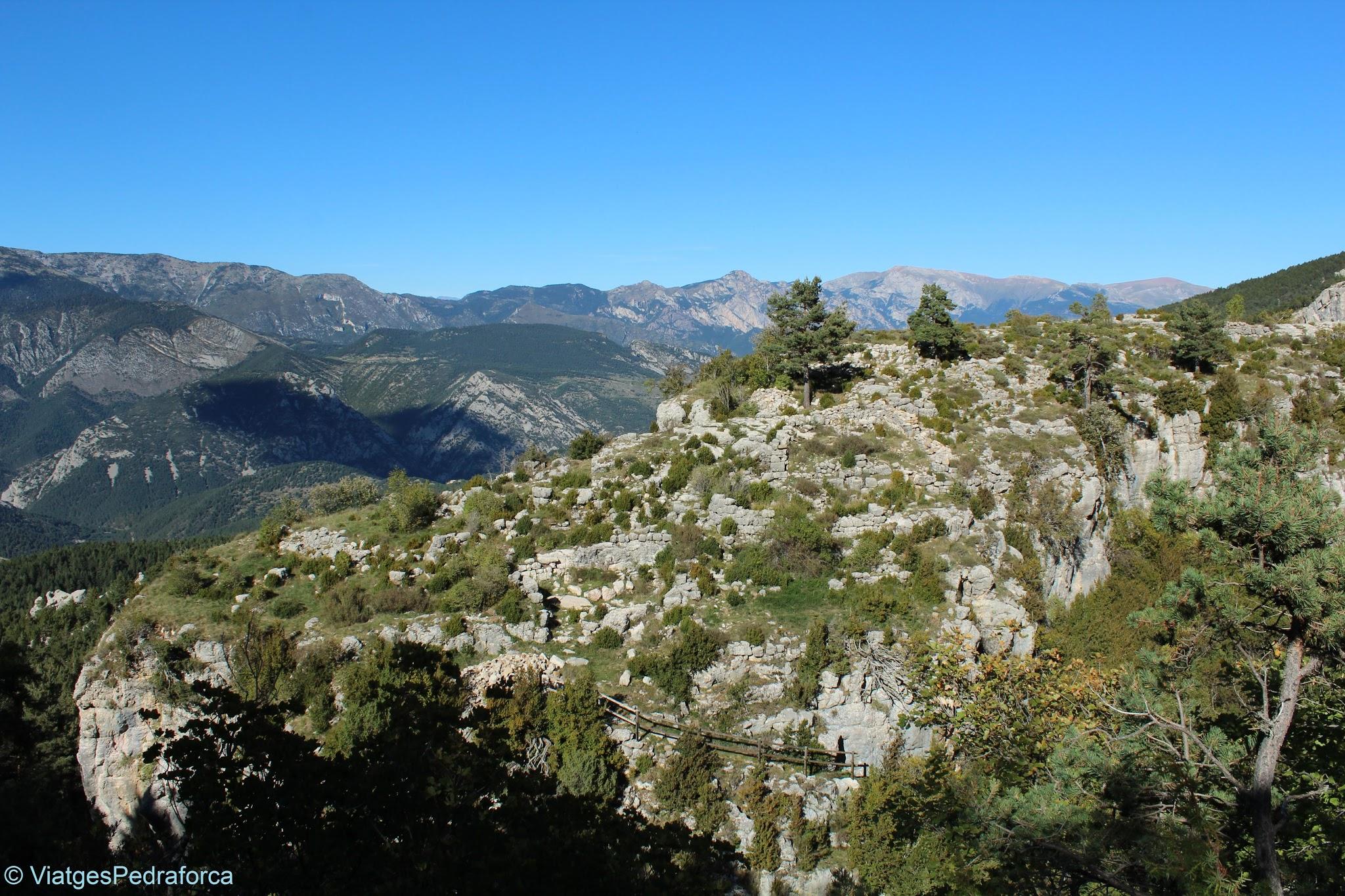 Poblat medieval de pastors de Roc de Palomera, Serra d'Ensija, Alt Berguedà, arqueologia