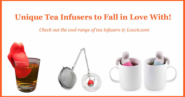 Unique and fun tea infusers from the collection at Lou16.com