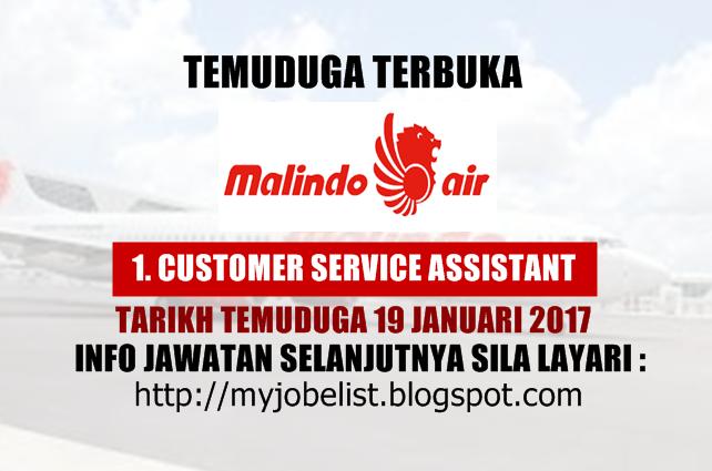 Temuduga Terbuka di Malindo Air Pada 19 Januari 2017