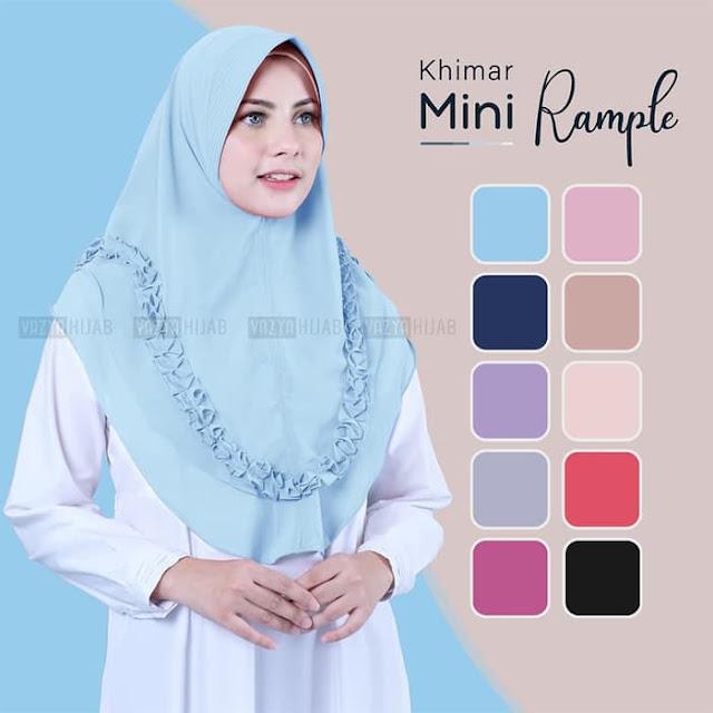 Jilbab Instan Khimar Terbaru Mini Rample