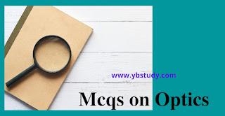 Mcqs on optics class 12