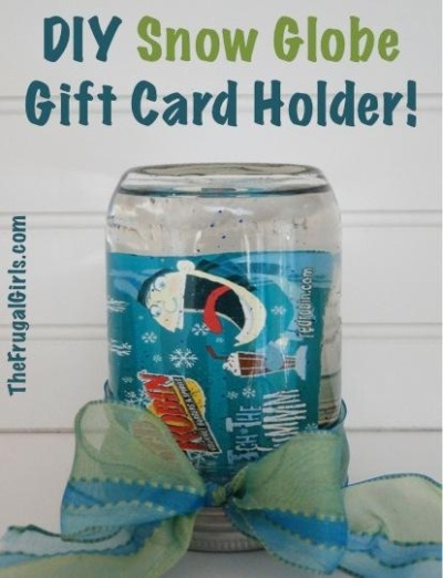 Snow Globe Gift Card Holder.