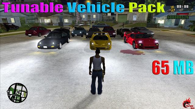 GTA San Andreas Tunable Vehicle Pack Latest Version