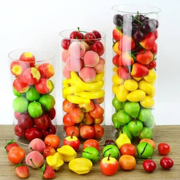 10/20/30pcs/lot Fruit And Vegetables Artificial Kitchen Toys For Children Pretend Play Toy