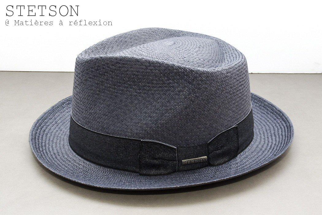 Stetson chapeau panama bleu