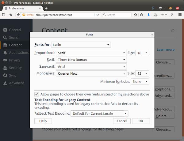 Firefox 50.1.0 в Ubuntu 16.04.1