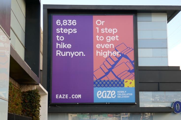 hike Runyon Eaze billboard