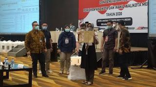 Rekapitulasi KPU Medan: Bobby 393.327 Suara, Akhyar 342.580