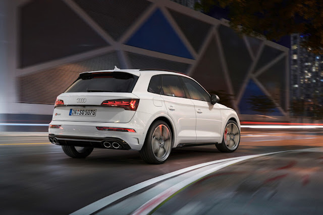 the suspension is lowered to reduce body height by 30mm compared to the regular Q5