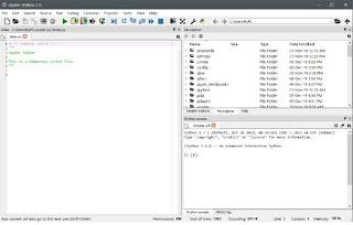 Spyder IDE interface display