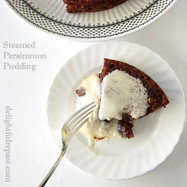 Steamed Persimmon Pudding - Instant Pot or Not / www.delightfulrepast.com