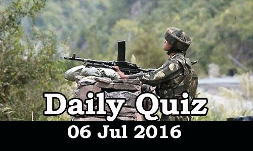 Daily Current Affairs Quiz - 06 Jul 2016