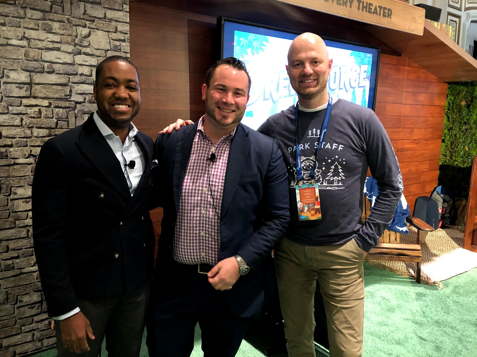 Daniel Yamoah, Rentboost and Salesforce MVP Tigh Loughhead and Denis Hoogweg speaking about AI and B2BMarketing at DF19