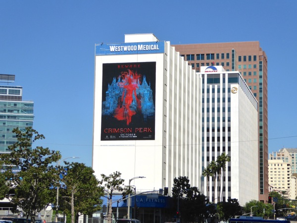 Giant Crimson Peak movie billboard