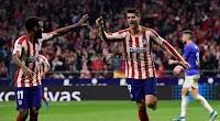 بهدفين بدون رد اتلتيكو مدريد يفوز خارج ملعبه على فريق اتلتيك بلباو في الجولة العاشره من الدوري الاسباني